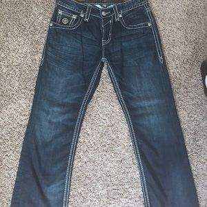 Rock Revival Jeans - Men's Rock Revival Relaxed Straight SZ 33 x 32
